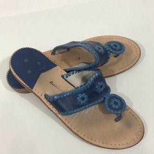 Jack Rogers Blue Slip On Sandals Sz 9